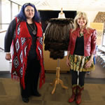 "On Jan. 31, 2016, Cherokee National Treasure, Shawna Morton Cain, presented Becky with a beautiful handmade turkey feather cape to be used in future productions of ""Nanyehi""!"