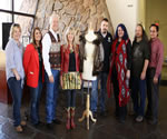L to R: Cherokee Nation Councilor Frankie Hargis, First Lady of the Cherokee Nation Sherry Baker, Principal Chief Bill John Baker, Becky, Councilor Shawn Crittenden, National Treasure Shawna Morton Cain, National Treasure Roger Cain and Cherokee Nation Secretary of State, Chuck Hoskins