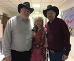 Moe Bandy and Dallas Wayne with the Beckaroo after the show in Lufkin, TX March 3, 2017