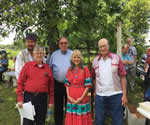with Troy Wayne Poteet, David Hampton, Jack Baker and Curtis Rohr at the gravemarking of Rebecca Ketcher Neugin, the last surviver of The Trail of Tears, Lost City, OK June 8, 2019