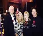 "Backstage at the Joint, Hard Rock Hotel & Casino, Tulsa, before ""Nanyehi."" L to R: Chief Bill John Baker, his wife, Sherry, Becky and Duane Sciacqua. Chief Baker is a fellow Nancy Ward descendant."